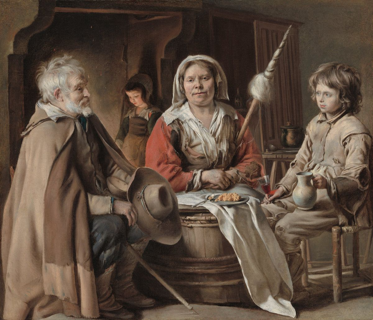 Peasant Interior by Louis Le Nain