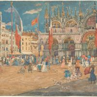 Piazza di San Marco by Maurice Brazil Prendergast