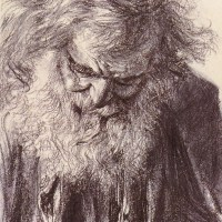 Portrait of an Old Man by Adolph von Menzel