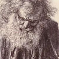 Portrait of an Old Man by Adolph von Menzel