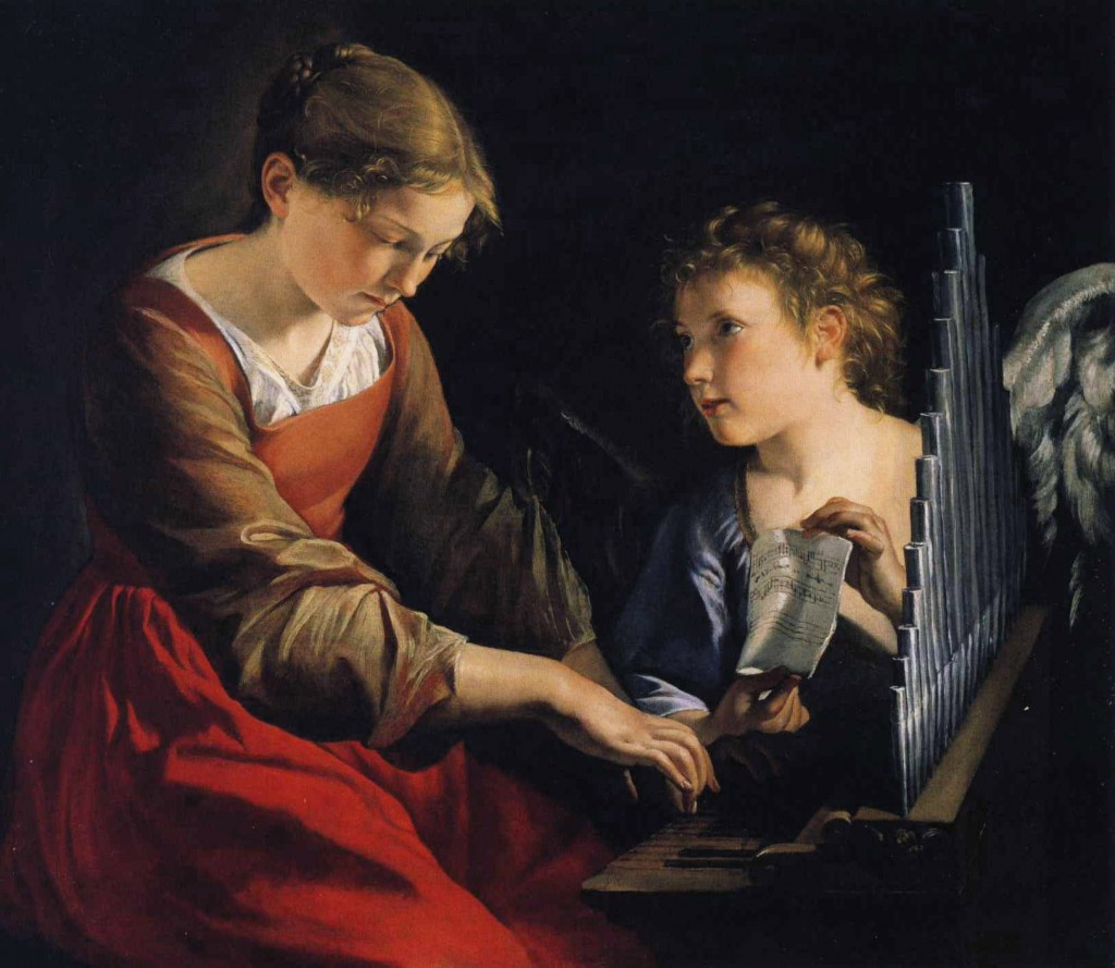 Saint Cecilia with an Angel by Orazio Gentleschi
