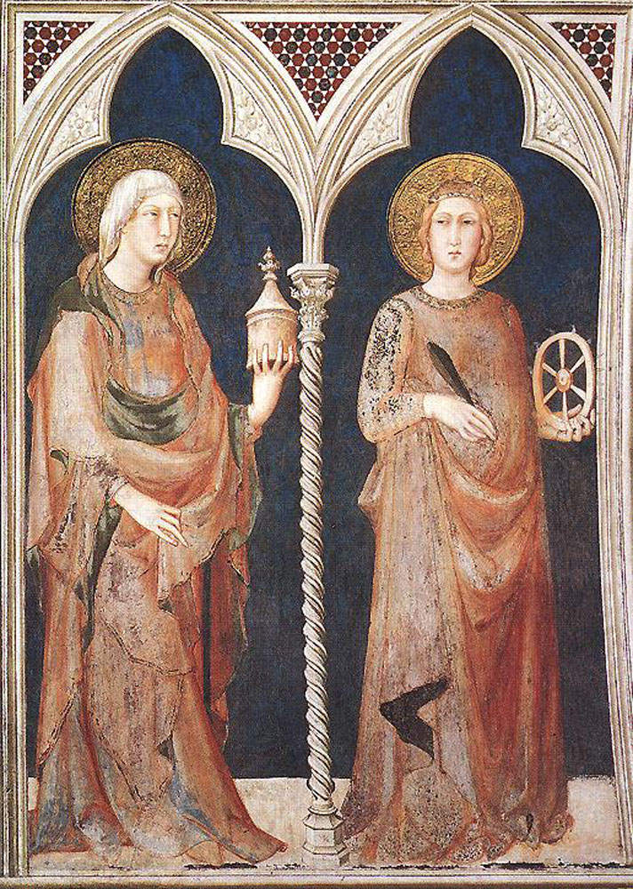 St Mary Magdalene and St Catherine of Alexandria by Simone Martini