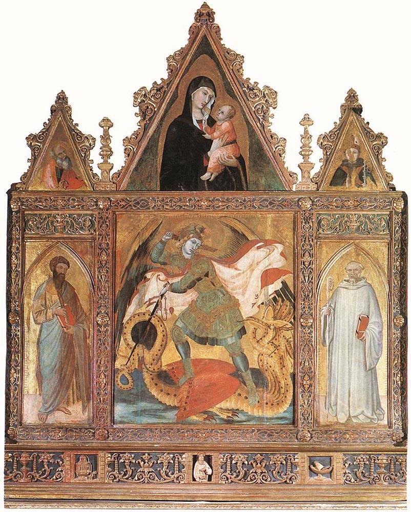 St Michael by Ambrogio Lorenzetti