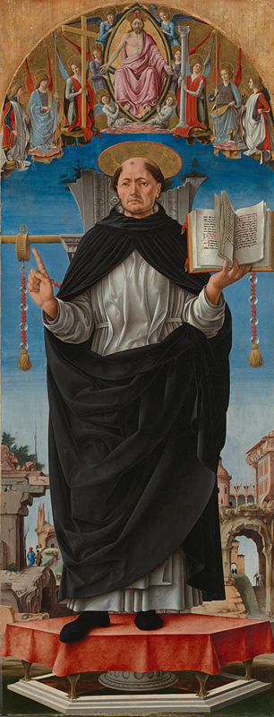 St Vincent Ferrer (Griffoni Polyptych) by Francesco del Cossa