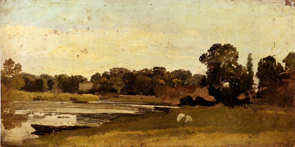 Study Of A River Landscape by John Linnell