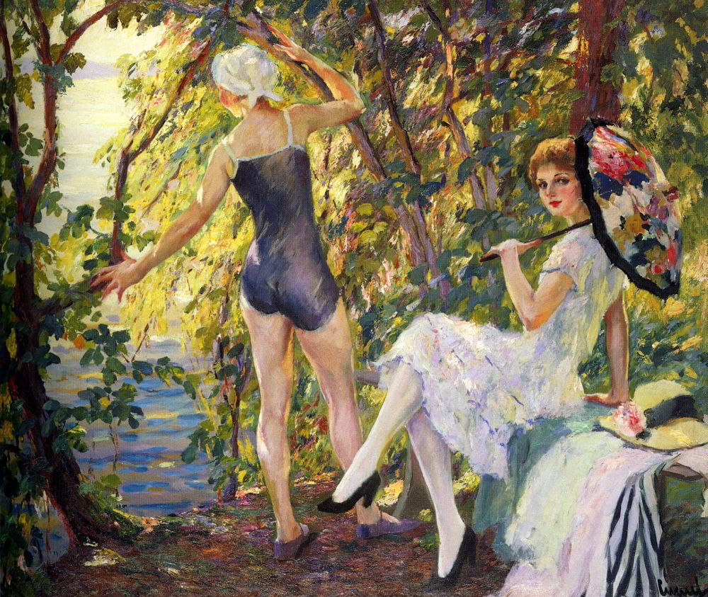 The Bathers by Edward Cucuel