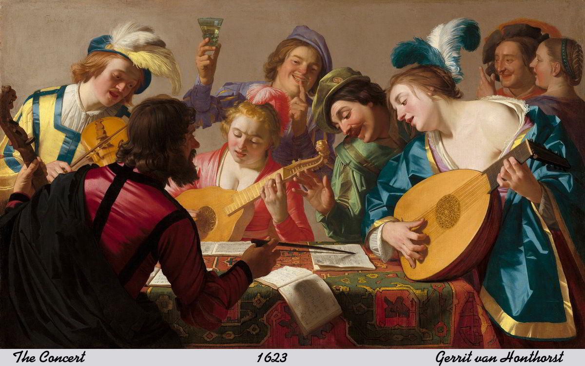 The Concert by Gerrit van Honthorst