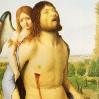 The Dead Christ Supported By An Angel by Antonello da Messina