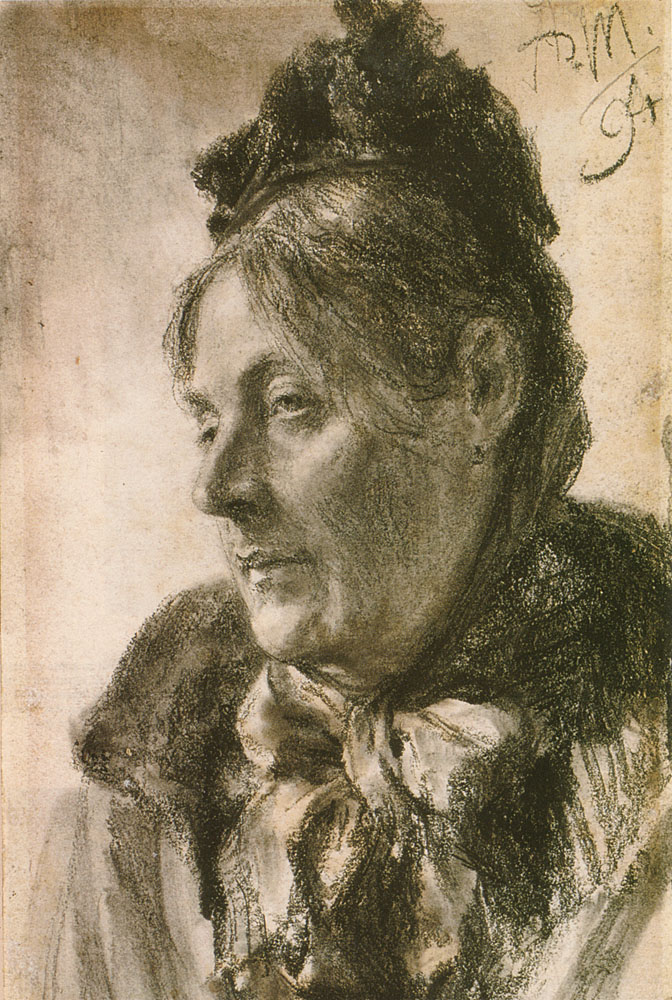The Head of a Woman by Adolph von Menzel