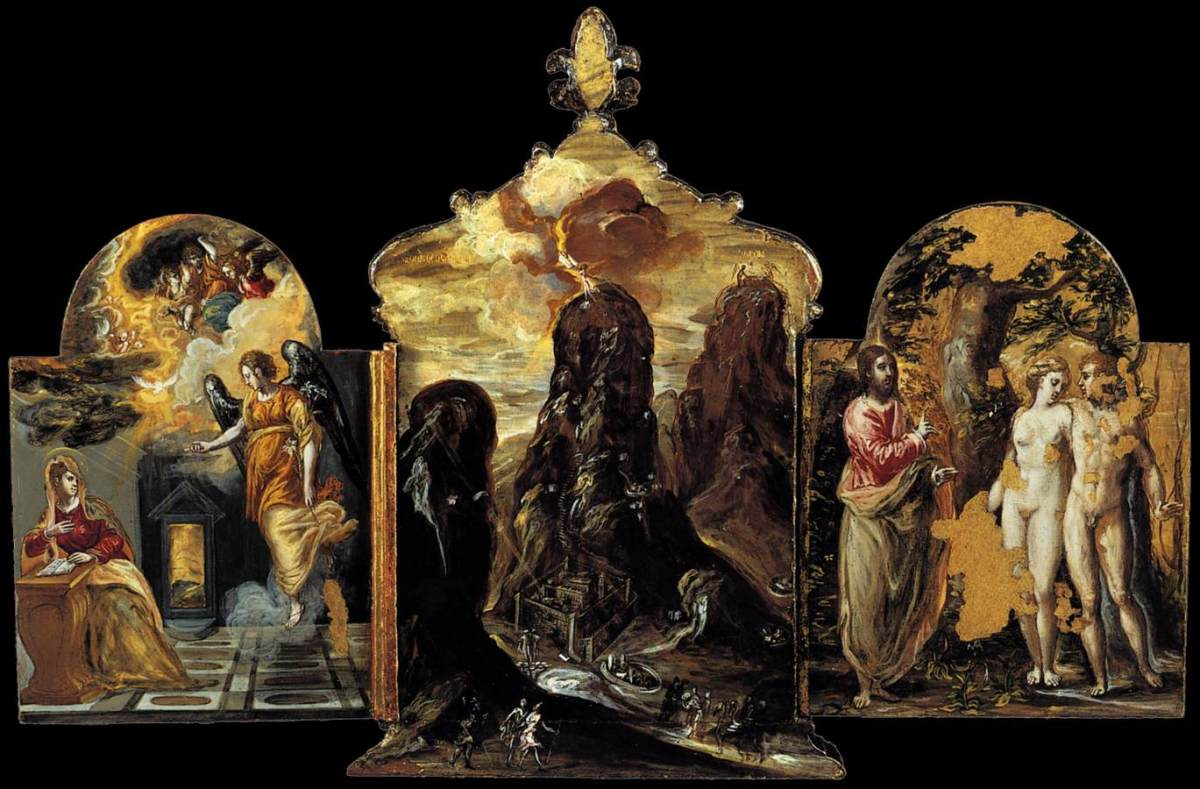 The Modena Triptych (back panels) by El Greco