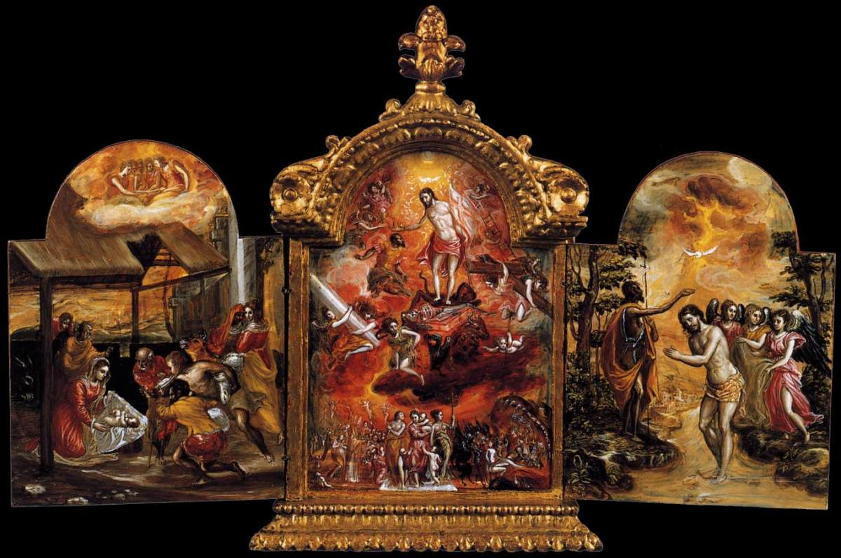 The Modena Triptych (front panels) by El Greco