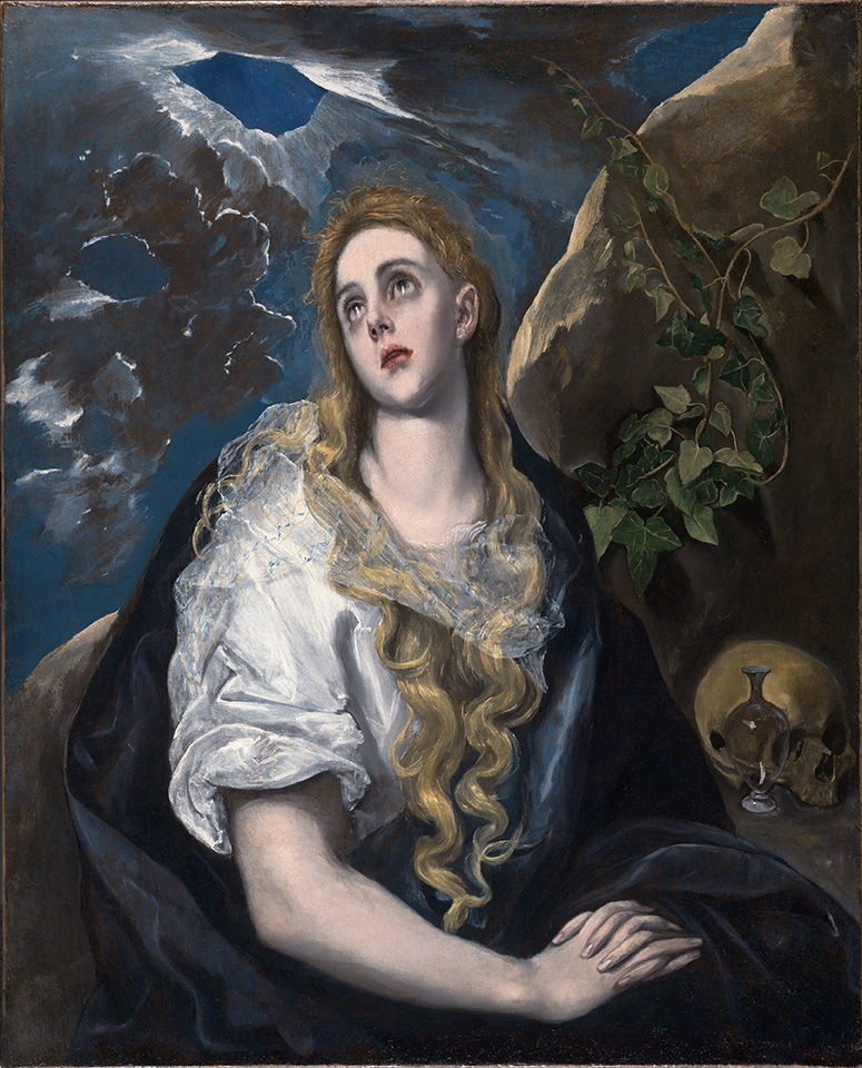 The Penitent Magdalene by El Greco