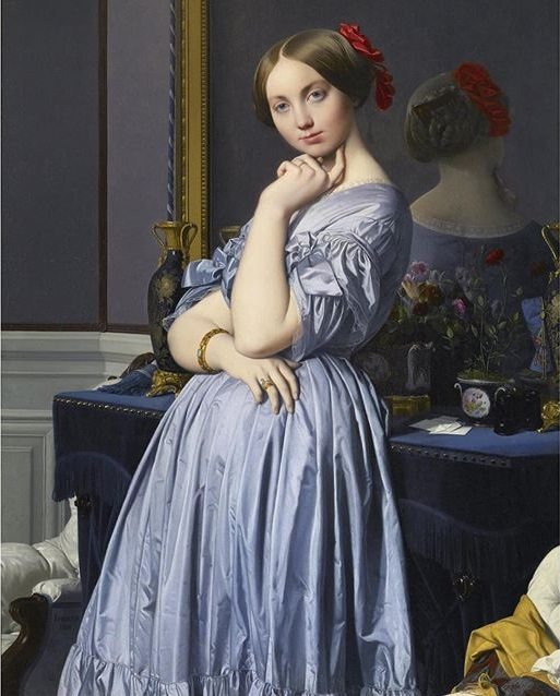 Vicomtess Othenin dHaussonville nee Louise Albertine de Broglie by Jean Auguste Dominique Ingres