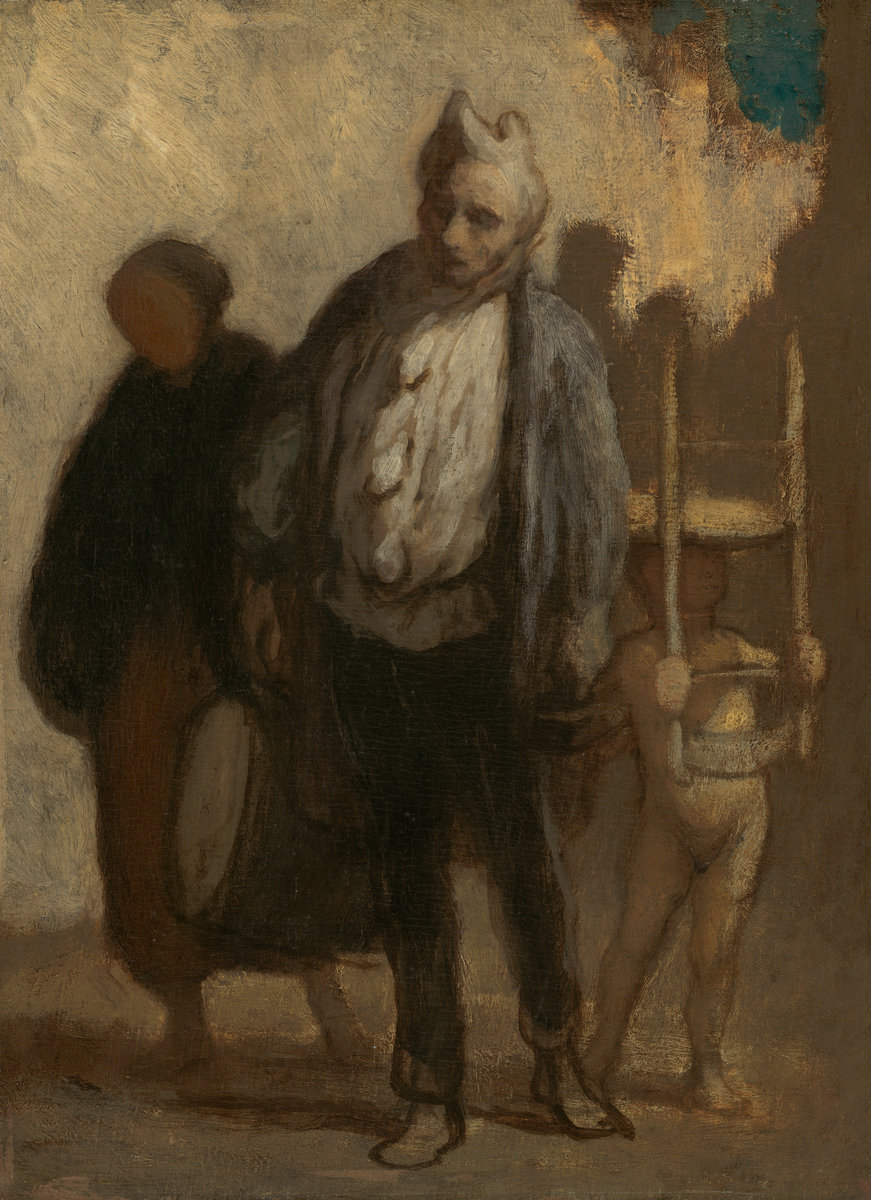 Wandering Saltimbanques by Honore Daumier