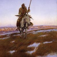 A Cree Indian by Charles Marion Russell