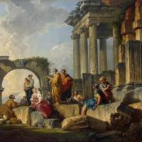 Apostle Paul Preaching on the Ruins by Giovanni Paolo Pannini