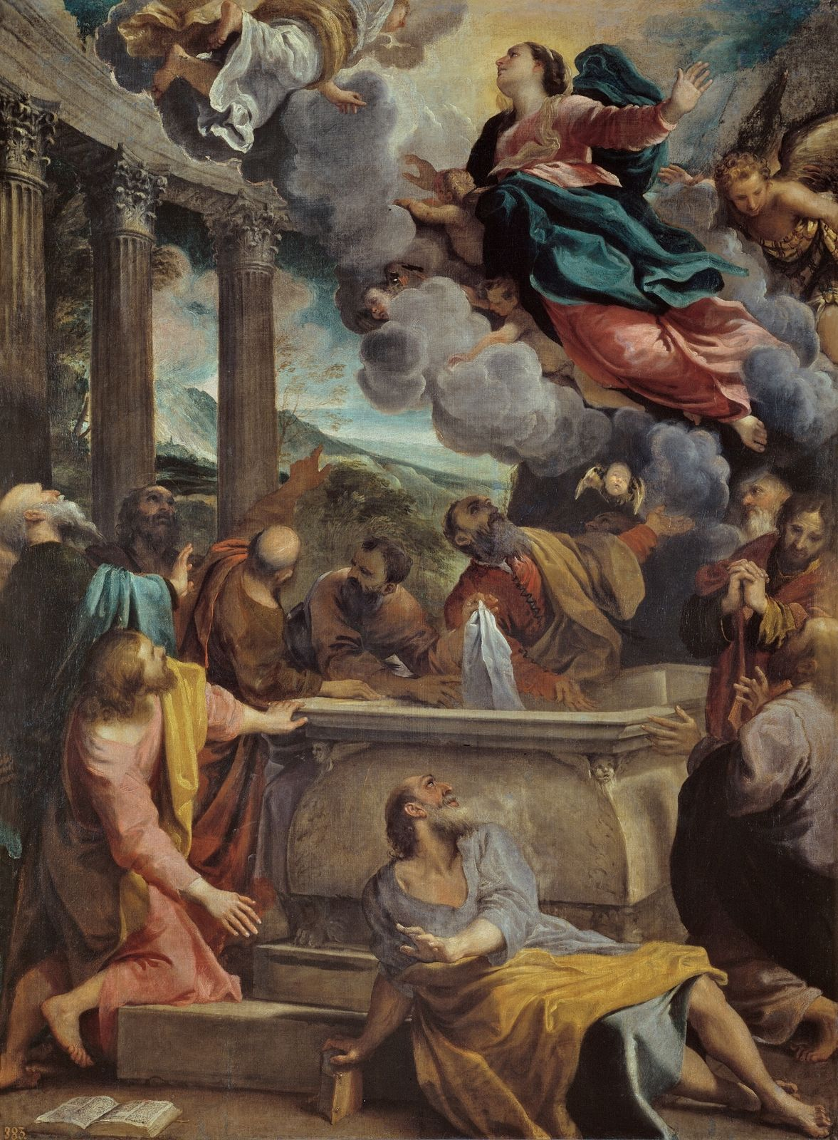 Assumption Of The Virgin Mary By Annibale Carracci