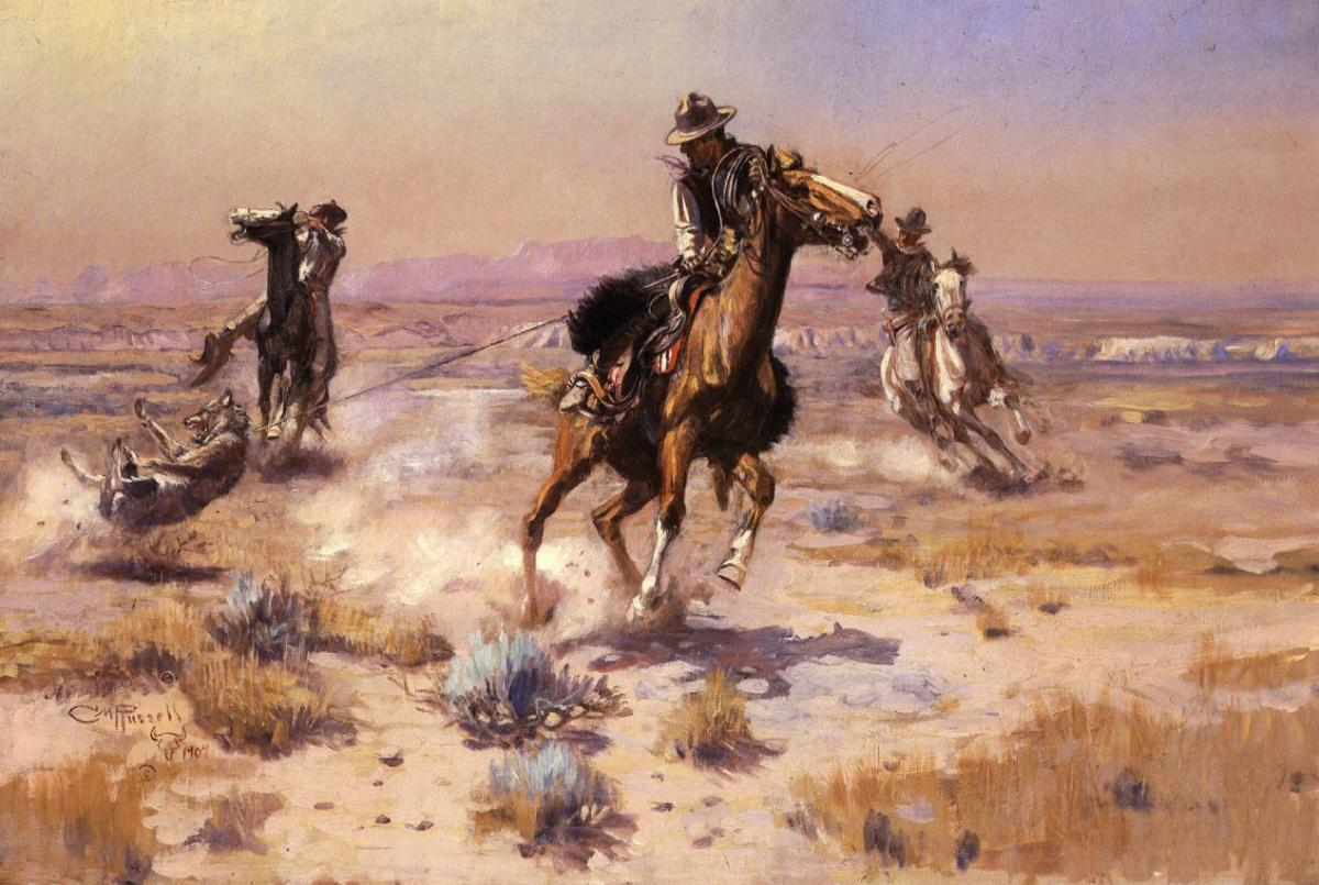 At Rope's End by Charles Marion Russell