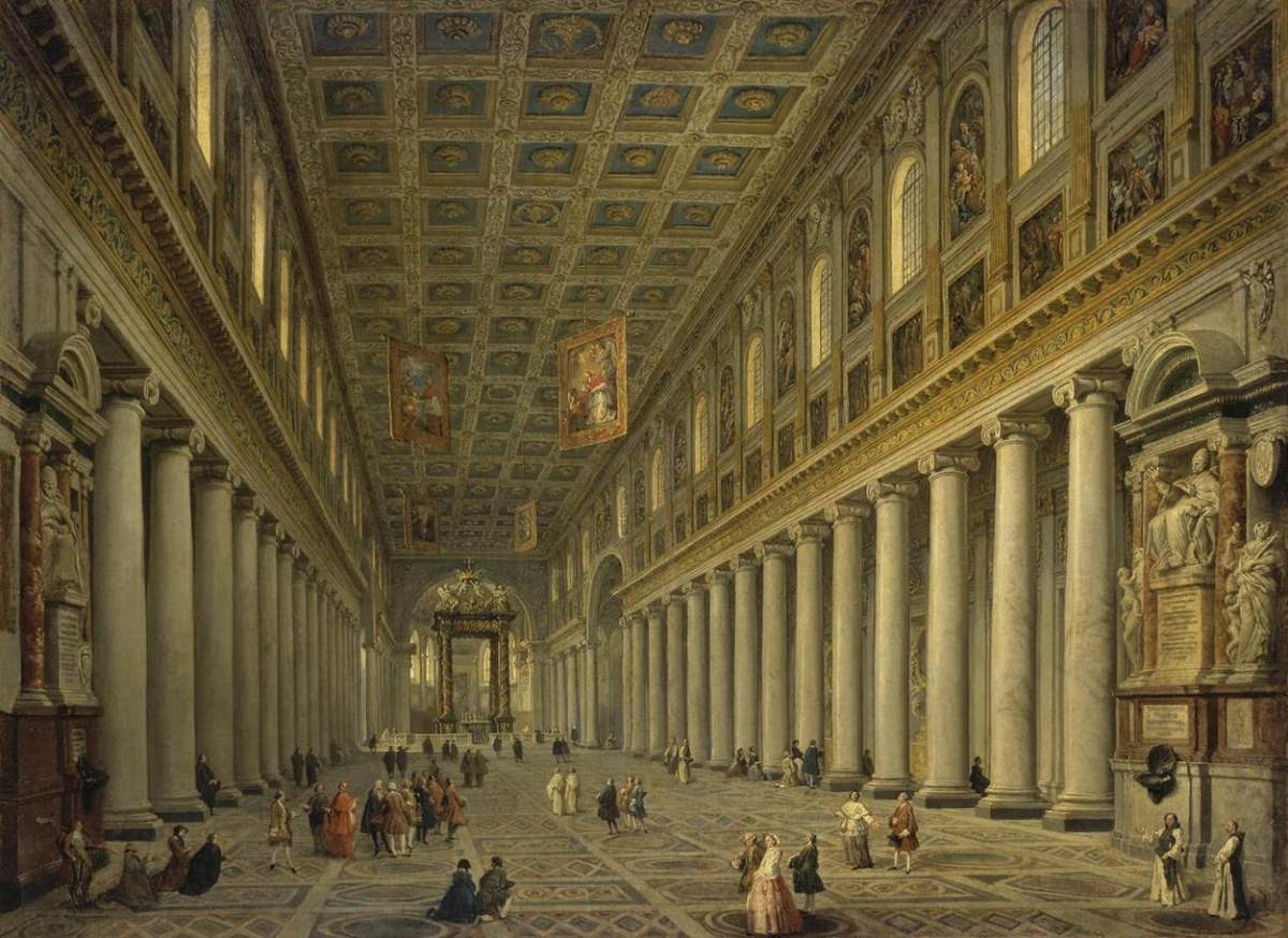 Interior of the Santa Maria Maggiore in Rome by Giovanni Paolo Pannini