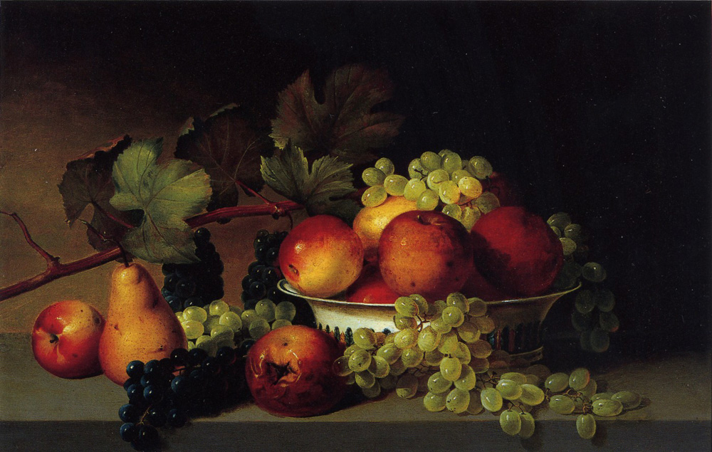 Still Life, Apples, Grapes, Pear by James Peale