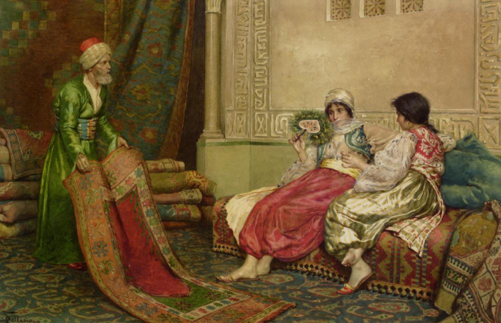 The Carpet Seller by Francesco Ballesio