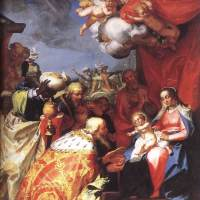 Adoration of the Magi by Abraham Bloemaert