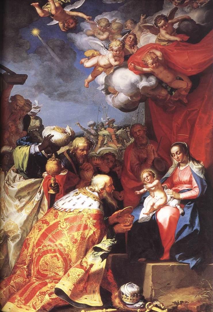 Adoration of the Magi by Abraham Bloemaert
