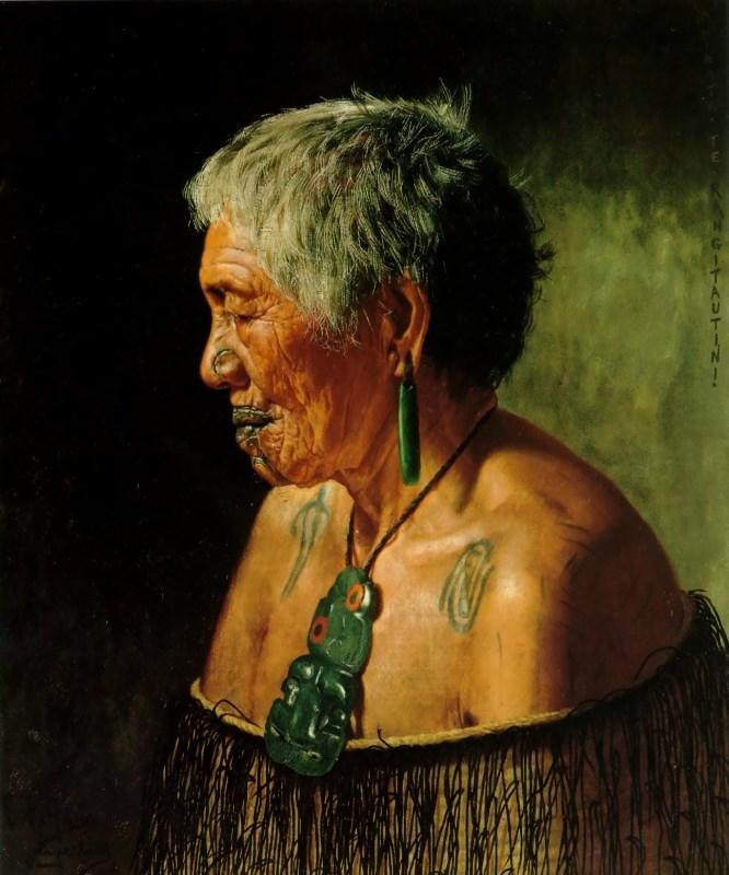 Ahinata Te Rangitautini Tuhourangi Tribe by Charles Goldie