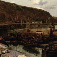 Burnmouth Berwickshire by Charles Napier Hemy