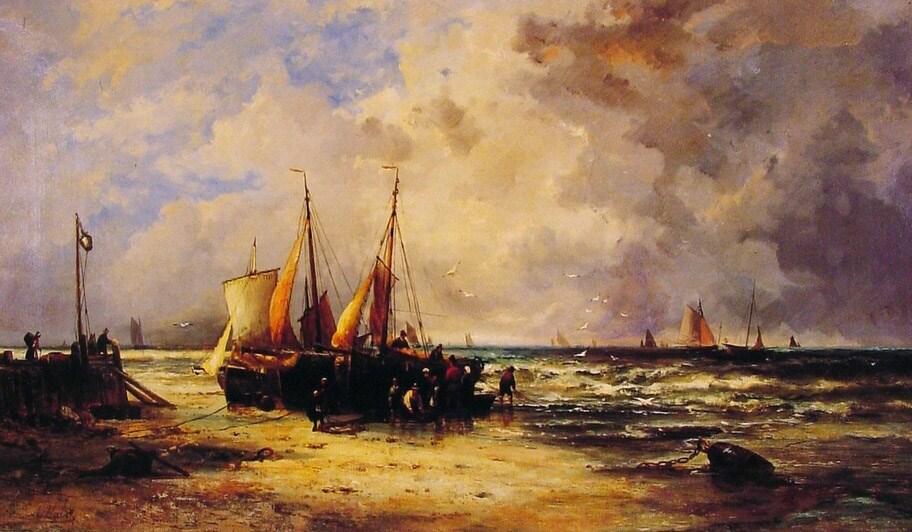 Coming Ashore by Abraham Hulk Snr