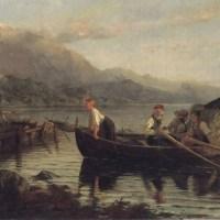Returning from Harvesting by Hans Dahl