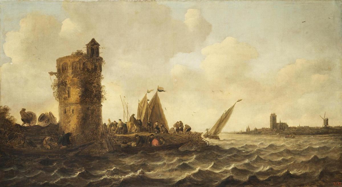 A View on the Maas near Dordrecht by Jan van Goyen