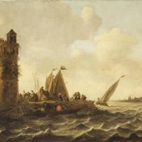 A View on the Maas near Dordrecht by Jan van Goyen