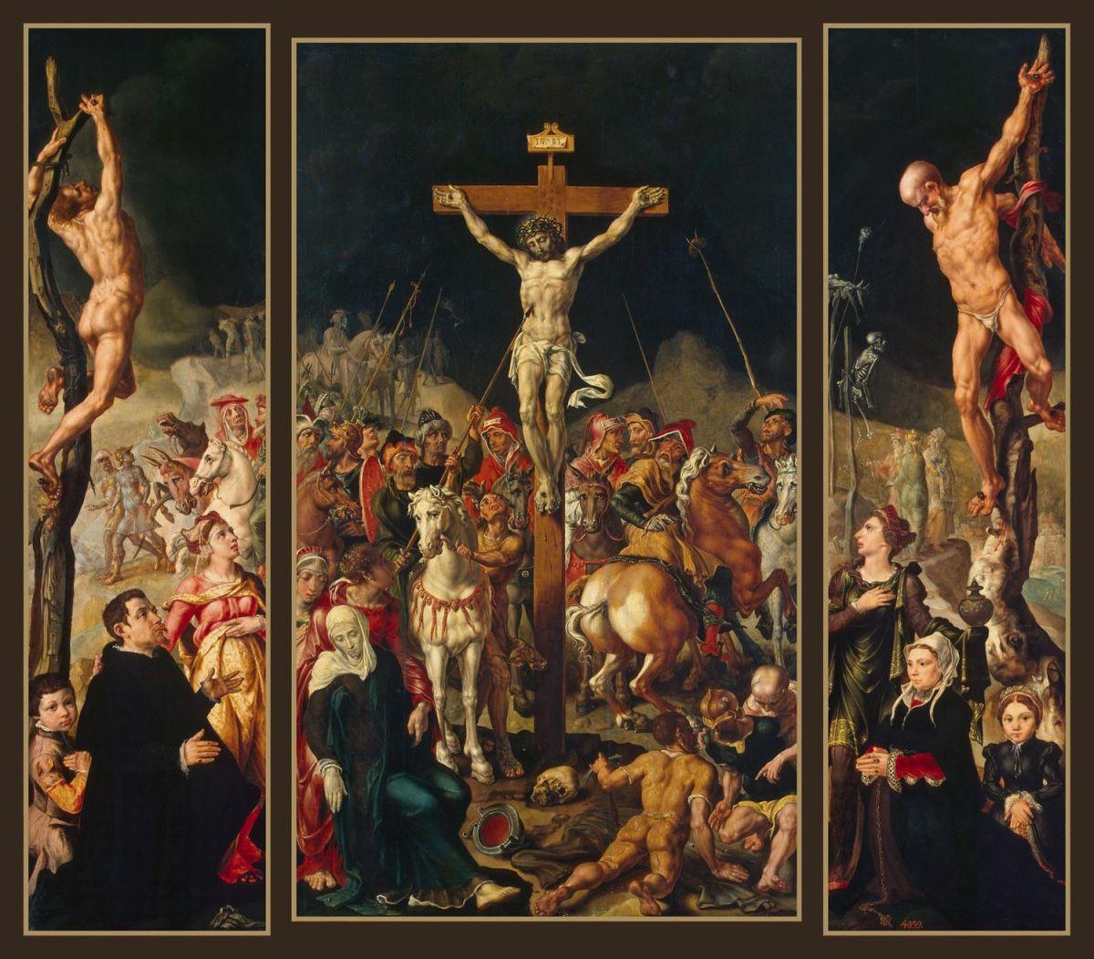 Calvary (Triptych) by Maerten van Heemskerck