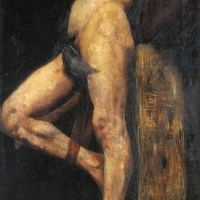 Crucified Thief by Lovis Corinth