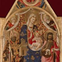 Crucifixion with Mary and St John the Evangelist by Antonio Da Firenze