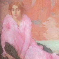 Dame en Rose by Edmond Francois Aman Jean