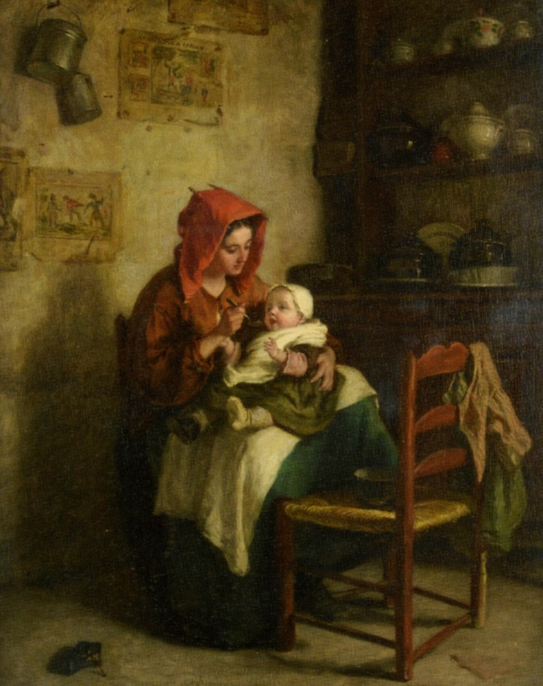 Feeding Time by Edouard Frere