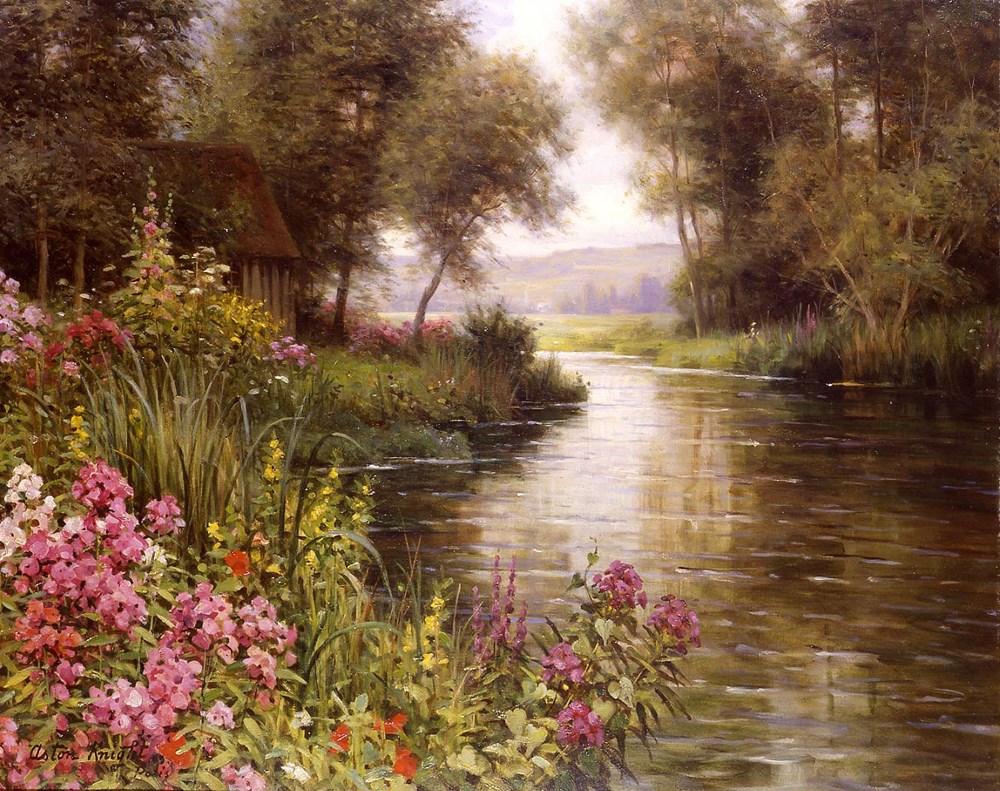 Fleur au bord de la Riviere by Louis Aston Knight
