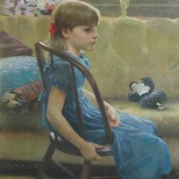 Girl in a Blue Dress by Allan R. Banks