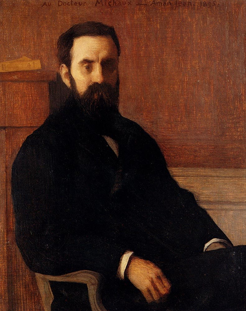 Portrait Of Dr. Michaux by Edmond Francois Aman Jean