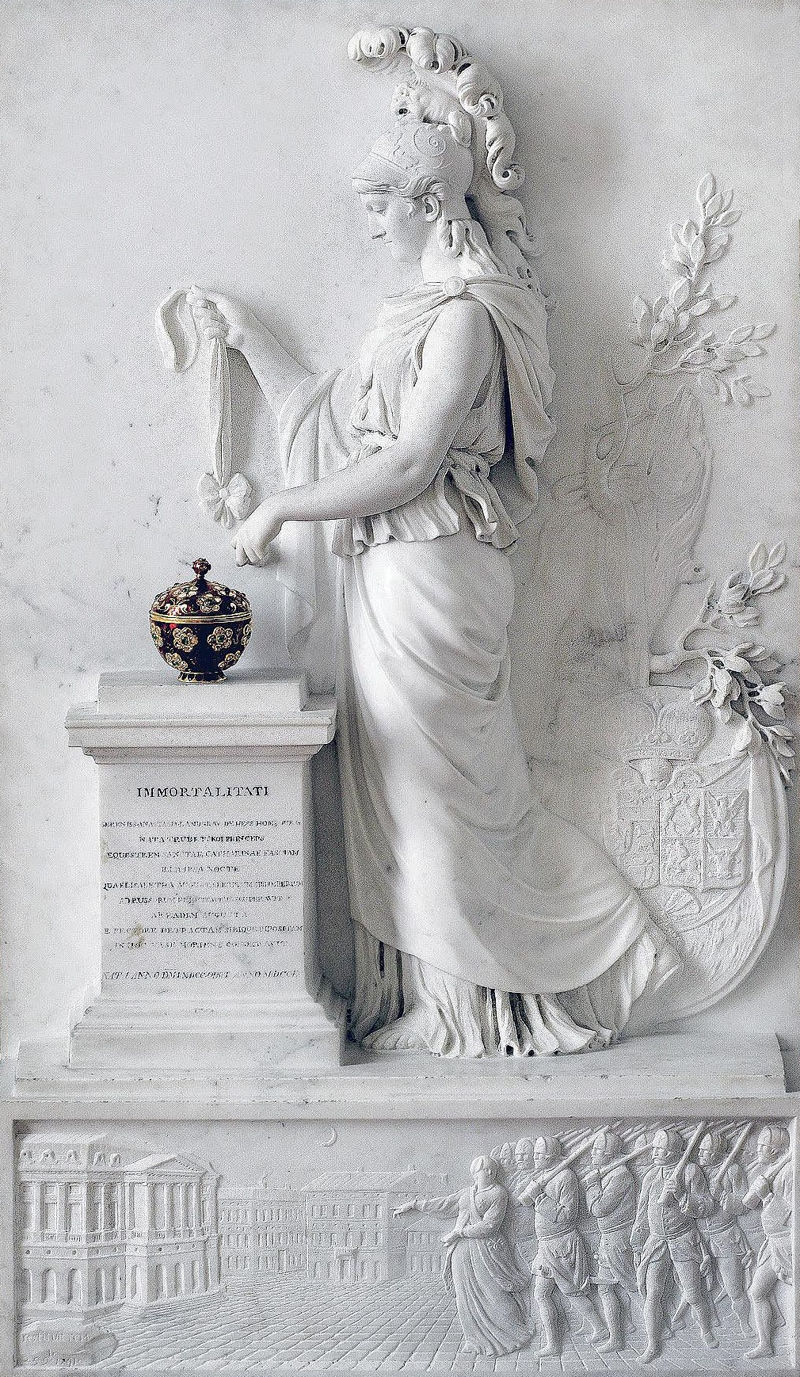 Princess of Hesse Homburg before the Altar of Immortality by Jacques Augustin Pajou