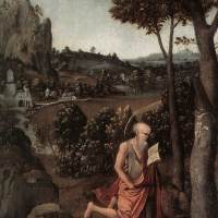 Rocky Landscape with Saint Jerome by Joachim Patinir