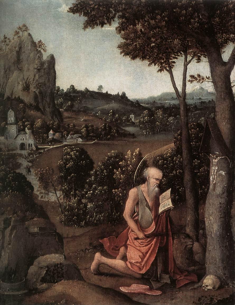 Rocky Landscape with Saint Jerome by Joachim Patinir