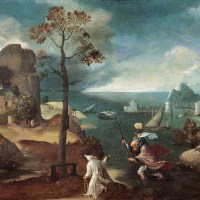 St Christopher Bearing the Christ Child by Joachim Patinir