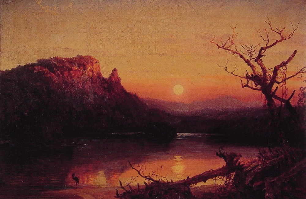 Sunset Eagle Cliff New Hampshire by Jasper Francis Cropsey
