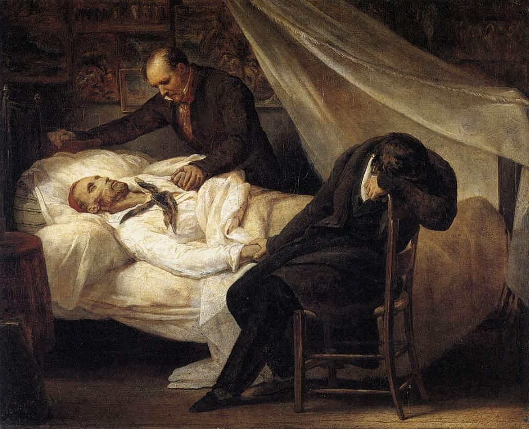The Death of Géricault by Ary Scheffer