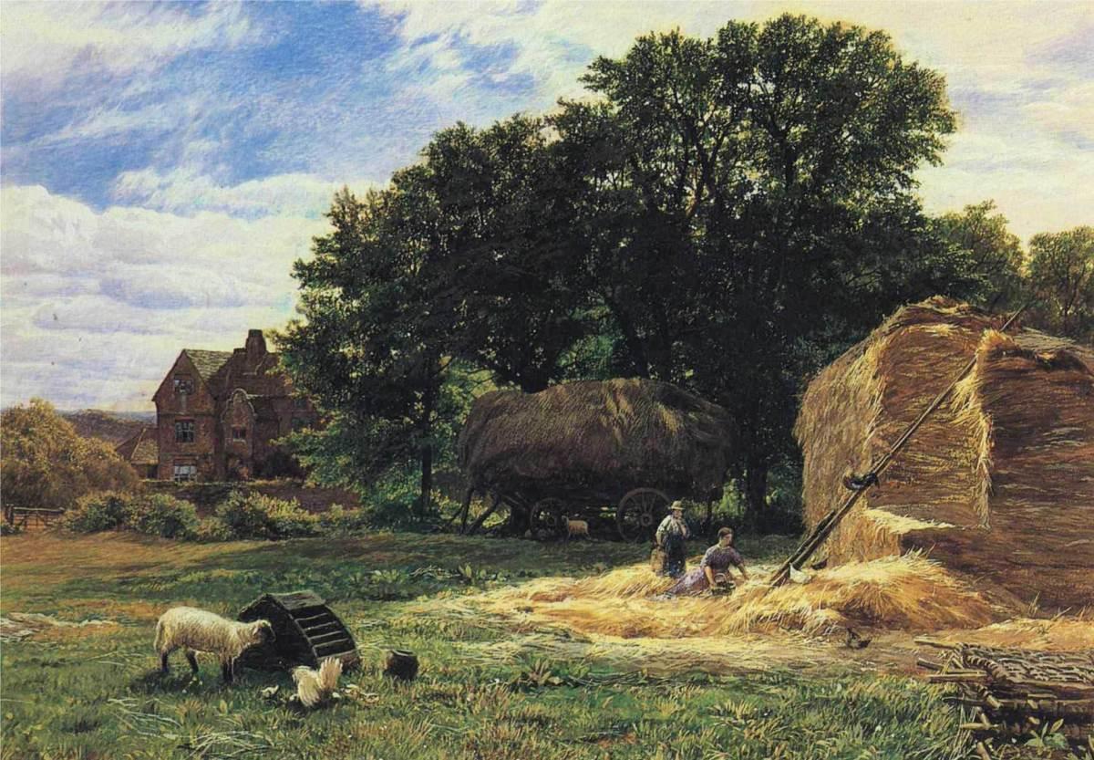 The Hayrick by George Vicat Cole