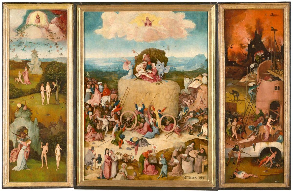 The Haywain Triptych by Hieronymus Bosch