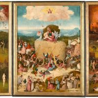 The Haywain Triptych by Hieronymus Bosch